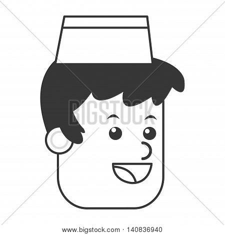 flat design ice cream vendor icon vector illustration