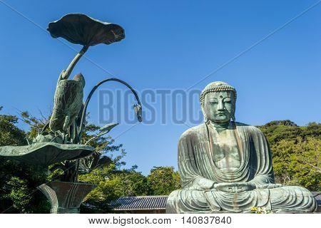 Kamakura Daibutsu or Great Buddha in Japan