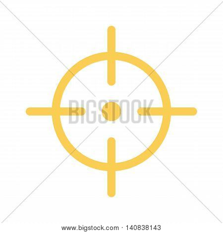 Vector aim, scope, sight icon isolated on white background.