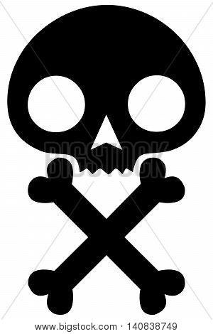 skull icon skull and cross bones symbol human skull