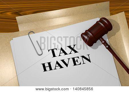 Tax Haven - Legal Concept