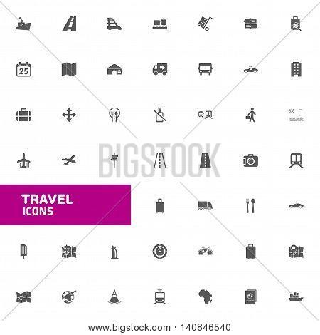 Beautiful set of Travel Icons vector illustration