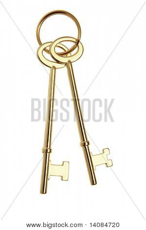 Gold Skeleton Keys