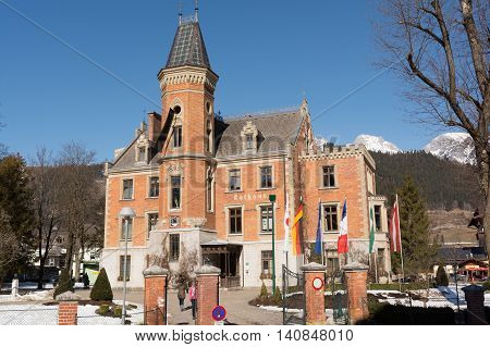 historically worth seeing town hall in Schladming in the former hunting lodge - Austria