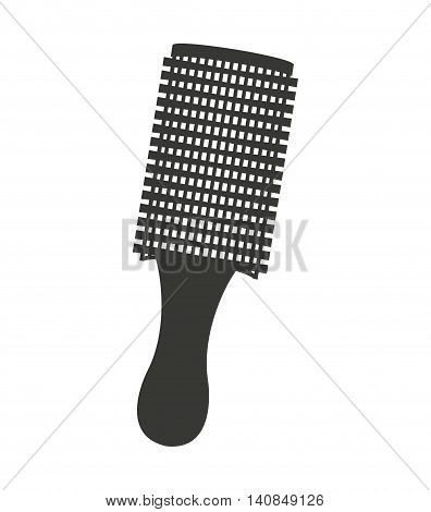 hairbrush equipment silhouette icon vector illustration design