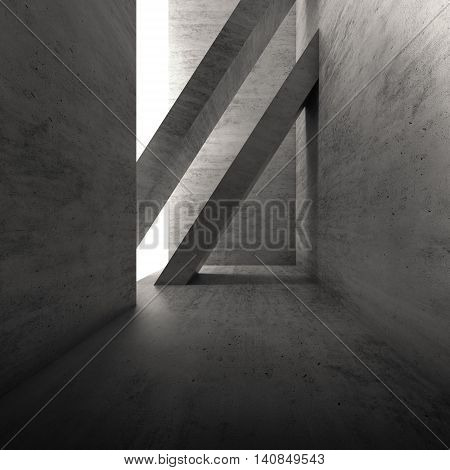 Architecture Background, Square 3D Render