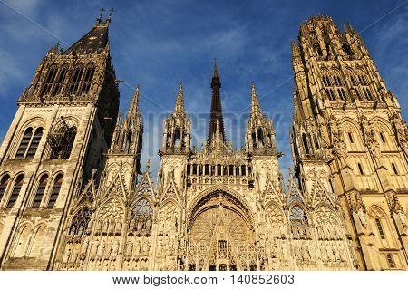 Rouen Cathedral Notre Dame. Rouen Normandy France