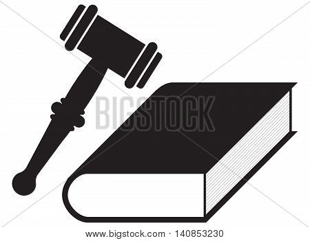 Law Concept book law ruler decisions legal system