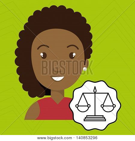 woman law justice balance vector illustration esp 10
