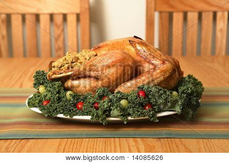 Turkey on table