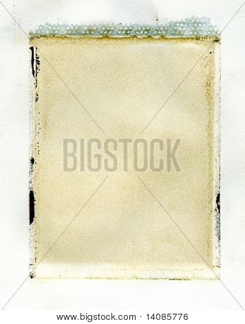 Grungy instant photo transfer texture