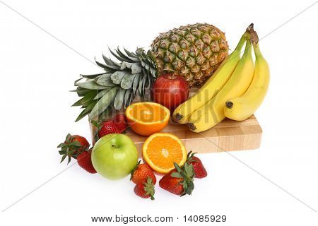Fruit food group isolated on white background