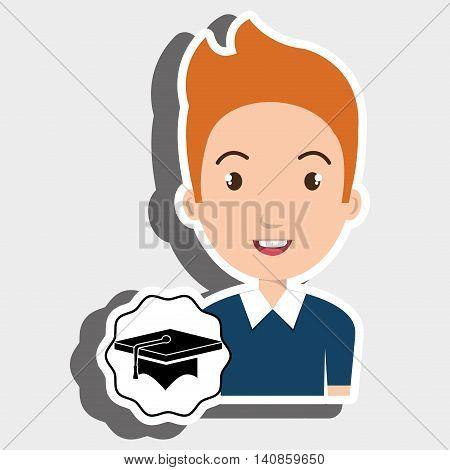 student young graduation cap vector illustration eps 10