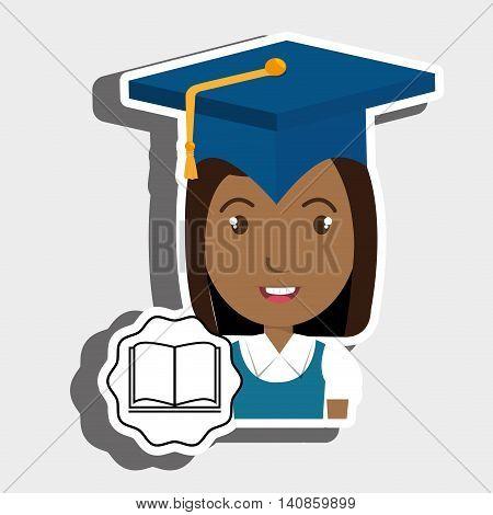 student graduation cap book vector illustration eps 10