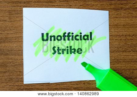 Unofficial Strike