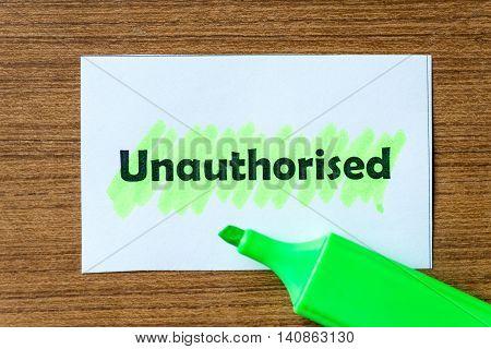 Unauthorised
