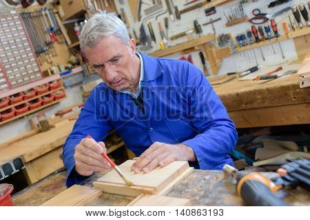 craftsman working