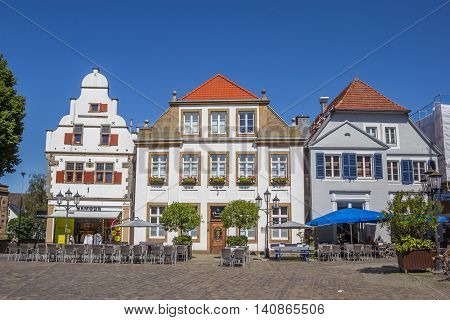 RHEINE, GERMANY - JULY 19, 2016: Central square in historical city Rheine, Germany