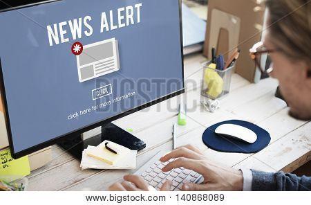 News Alert Newsletter Announcement Daily Concept