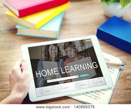 Home Learning Webpage Search Engine Concept