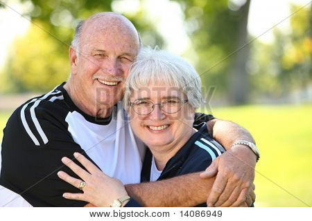 Portrait of senior couple outdoors