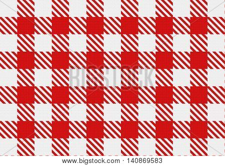Red And White Checked Texture.