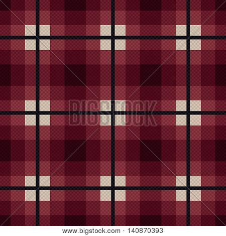 Rectangular Seamless Fabric Pattern In Red And Gray