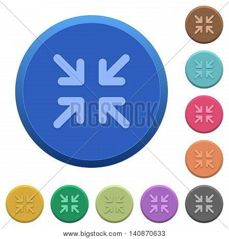 Set of round color embossed minimize buttons