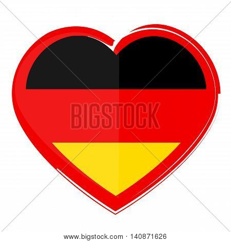 germany flag heart shape I love Germany