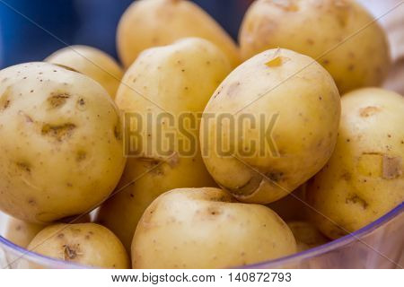 new potatoes ready for cooking, fresh vegeterian food, healthy living