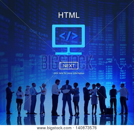 HTML Web Development Code Design Concept