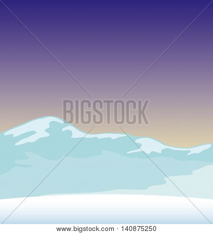 Icy hills of the North Pole for your decoration.