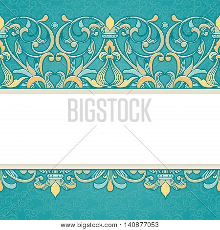 Vector Floral Border In Victorian Style.
