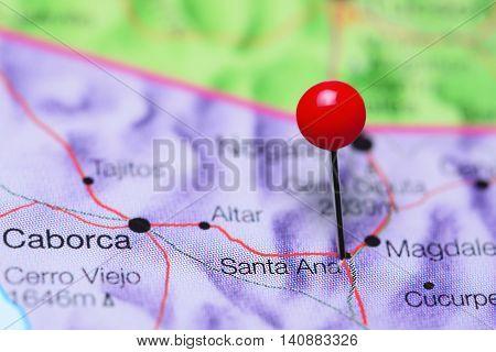 Santa Ana pinned on a map of Mexico