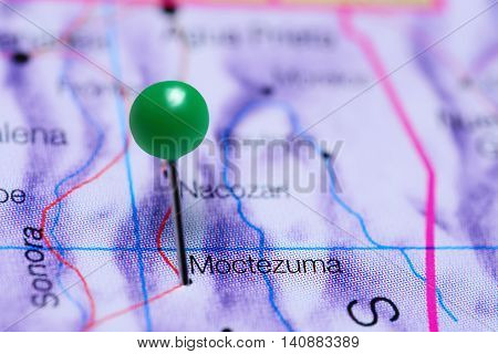 Moctezuma pinned on a map of Mexico