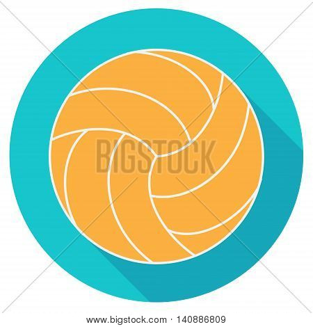 Yellow water polo ball flat designe vector illustration