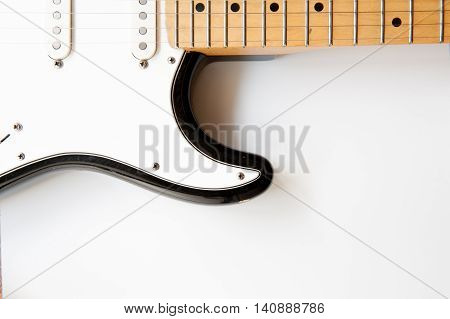 Electric Guitar Body Part Close Up