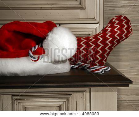 Preparing for Christmas/ selective B/W