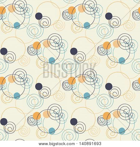 Circle pattern. Modern stylish texture. Repeating dos round abstract background for wall paper. Flat minimalistic design.