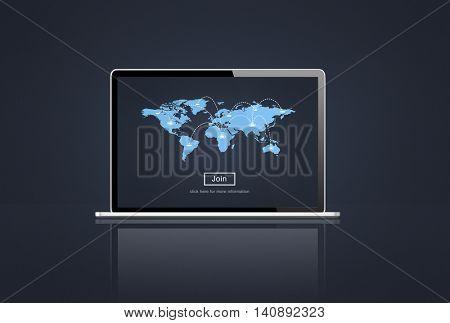 Cartography World Map Worldwide Concept