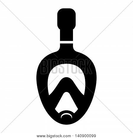 Snorkel mask ( shade picture ) on white