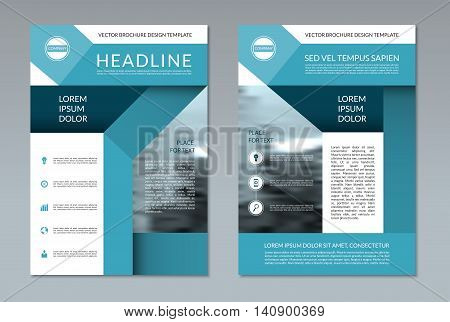 Brochure flyer layout template. A4 size. Front and back page. Can be used for annual report, booklet, catalog, presentation, book cover, leaflet. Vector background