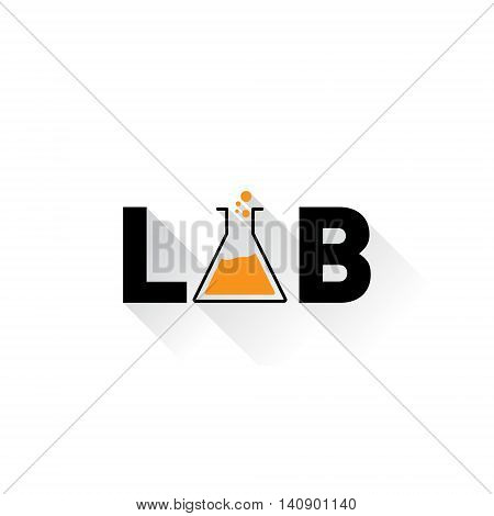 Chemical lab logo. Laboratory identity. Letter A as a glass bulbs