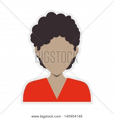 Avatar male concept represented by man head and torso icon. Isolated and flat illustration