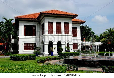 Singapore - December 17 2007: The Palladian style 1840 Malay Heritage Centre originally the royal residence of the Sultans of Johore the Istana Kampong Glam