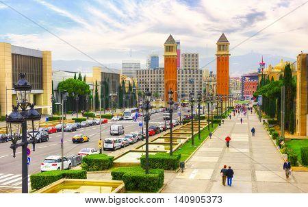 Barcelona city - shots of Spain - Travel Europe - november
