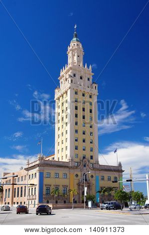 Freedom Tower touristic attraction building in the Miami Downtown.