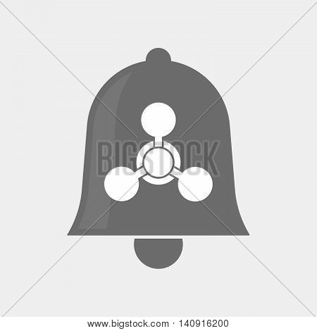Isolated Bell Icon With A Chemical Weapon Sign