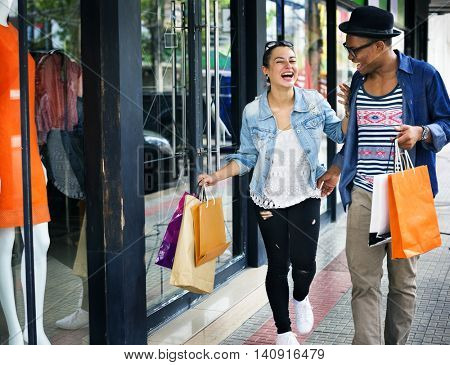 Couple Shopping Dating Enjoyment Consumer Concept