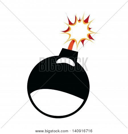 Explosion concept represented by bomb icon. Isolated and flat illustration